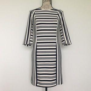 Banana Republic 2/3 Sleeve Striped Bodycon Dress